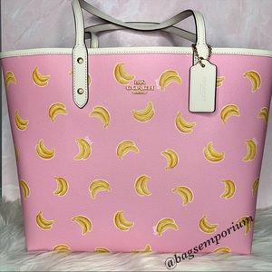 Coach Large Reversible Banana Tote Bag